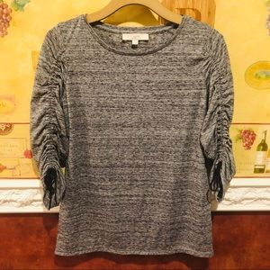 LOFT gray long sleeve top